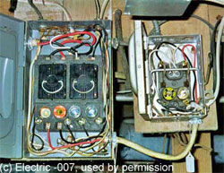 Two older fuse type electrical panels